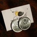 Régi tízfilléres fülbevaló újrahasznosított ékszer, Ékszer, Fülbevaló, Régi, forgalomból kivont tízfilléresből készült ez a bedugós fülbevaló.   A bedugós fülbevalóalap ni..., Meska