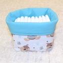 Asztali pelenkatartó, Baba-mama-gyerek, Gyerekszoba, Tárolóeszköz - gyerekszobába, 15-18 db pelenka tárolására alkalmas. A pelenkák a babaszoba designjába illeszkedő tárolóban tarthat..., Meska