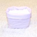 Asztali pelenkatartó, Baba-mama-gyerek, Gyerekszoba, Tárolóeszköz - gyerekszobába, Varrás, 15-18 db pelenka tárolására alkalmas. A pelenkák a babaszoba designjába illeszkedő tárolóban tartha..., Meska
