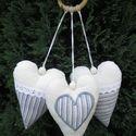 Szíves dekoráció, Dekoráció, Otthon, lakberendezés, Baba-mama-gyerek, Varrás, 3 különböző szívecske található egy csomagban. Felrakhatod csoportban, vagy külön-külön. :)   A szí..., Meska
