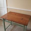 Retró konyhaasztal újraálmodva, Bútor, Otthon, lakberendezés, Asztal, Famegmunkálás, Festett tárgyak, Antik konyhaasztal újraálmodva!!! Méretei: 100x68 cm, magasság 78 cm. Kemény bükkfából, teteje feny..., Meska