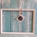 Kis képkeret koptatott, Otthon, lakberendezés, Képkeret, tükör, Régi fa képkeret szerkezetileg helyreállítva, fehérre festve és vissza koptatva. Mérete: 37cm x 28cm..., Meska