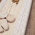 Ajtódísz 1., Otthon, lakberendezés, Falikép, Tömör fenyő, dekorációval díszítve. Méret: 35,5 X 11,5 cm., Meska
