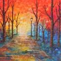 Eső után - akril festmény