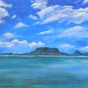 Balaton - akril festmény