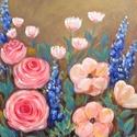 Nagyi kertje 2. - akril festmény, Képzőművészet, Otthon, lakberendezés, Festmény, Falikép, 24x30 cm méretű feszített vászonra készült akril festmény. Keretezést nem igényel, azonnal ..., Meska