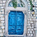 A múltnak kapuja - akril festmény, Képzőművészet, Otthon, lakberendezés, Festmény, Falikép, Festészet, 30x40 cm méretű feszített vászonra készült akril festmény. Keretezést nem igényel, azonnal a falra ..., Meska