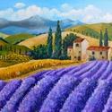 Provence - akril festmény, Képzőművészet, Otthon, lakberendezés, Festmény, Falikép, 40x30 cm méretű feszített vászonra készült akril festmény. Keretezést nem igényel, azonnal a falra h..., Meska