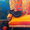 Mesefotel lakója - akril festmény, Képzőművészet, Baba-mama-gyerek, Festmény, Gyerekszoba, 40x50 cm méretű feszített vászonra készült akril festmény. Keretezést nem igényel, azonnal a falra h..., Meska
