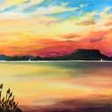 Naplemente - akril festmény, 40x30 cm méretű feszített vászonra készült a...