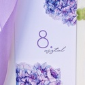 Asztalszám, lila, kék, hortenzia, Esküvő, Képzőművészet, Esküvői dekoráció, Illusztráció, Egy oldalas nyomtatás : 100*150 mm   Ha betűtípust, vagy betűméretet, elrendezést vagy grafikát szer..., Meska