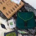 Zöld Leveles Mini Hátizsák Ajándék doboz, Táska, Hátizsák, Varrás, Zöld leveles ajándék csomag a természet kedvelőknek.  Ajándékcsomag része: 1 db leveles mini hátizs..., Meska