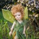 Erdőtündér - Arin tündér figura mozgatható porcelán baba porcelánbaba, Képzőművészet, Otthon, lakberendezés, Dekoráció, Baba-és bábkészítés, Kerámia, Erdőtündér - Arin  Arin a természet védelmezője, az új hajtások, nyíló virágok éltetője.  Arin tünd..., Meska