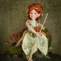 Boszorkány figura - Arabella mozgatható porcelán baba porcelánbaba boszorka boszi mesefigura erdei erdő, Képzőművészet, Otthon, lakberendezés, Dekoráció, Baba-és bábkészítés, Kerámia, Erdei boszorkány figura - Arabella  27 cm magas.  Kézműves porcelán baba.  Ennek a figurának a telj..., Meska