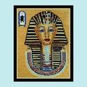 Gobelinkép, petit point, címe: Tutanhamon, Dekoráció, Gobelin, Kép, Hímzés, Ez egy nagyon igényesen kivarrt  petit point (tűgobelin) gobelinkép. Be van keretezve, ezért nem le..., Meska