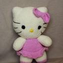 Hello Kitty figura , Gyerek & játék, Játék, Plüssállat, rongyjáték, Horgolás, 30 cm magas, sajátkezűleg horgolt Hello Kitty figura. Finom, puha plüss fonalból készült. Antialler..., Meska