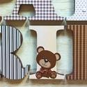 Betű- Patrik  style, Baba-mama-gyerek, Otthon, lakberendezés, Gyerekszoba, Baba falikép, Mindenmás, A feltüntetett ár 1db 12 cm magas betűre vonatkozik..,oldalai festettek, eleje dekorpapírral kasíro..., Meska