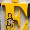 Szafaris betű, Baba-mama-gyerek, Dekoráció, Gyerekszoba, Baba falikép, Festett tárgyak,   A feltüntetett ár  1DB 12 CM MAGAS BETŰRE VONATKOZIK..ahány betűt szeretne annyit tegyen a kosárb..., Meska