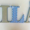 Betűk -Milán style, Baba-mama-gyerek, Otthon, lakberendezés, Gyerekszoba, Baba falikép, Mindenmás, A feltüntetett ár 1db 12 cm magas betűre vonatkozik..,oldalai festettek, eleje dekorpapírral kasíro..., Meska