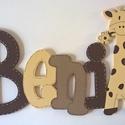 Név-Beni style-4 betűs név, Baba-mama-gyerek, Otthon, lakberendezés, Gyerekszoba, Utcatábla, névtábla, Festett tárgyak, 6mm vastag Mdf falapból készül, akrilfestékkel festveAz ár 4 betűs névre érvényes a figura a végén ..., Meska