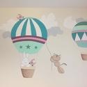 Falfestés - modern hőlégballonos, Baba-mama-gyerek, Gyerekszoba, Baba falikép, Gyerekbútor, Festészet, Festett tárgyak, Falfestés egyedileg készített előzetes terv alapján. Színben, mintában a te elképzelésed alapján te..., Meska