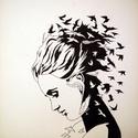 Kaotizmus, Képzőművészet, Grafika, Rajz, Méret: 28 X 30 cm Anyag: toll,filctoll,papír Sokszor van hogy gondolataink hasonlóan kavarognak ,röp..., Meska