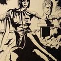 Ligetben, Képzőművészet, Grafika, Rajz, Méret: 30 X 42 cm Anyag: Toll,papír Kicsit elhagyott de ettől olyan varázslatos ilyen helyen kir..., Meska
