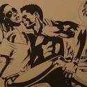 Közös benső tánc, Képzőművészet, Grafika, Rajz, Fotó, grafika, rajz, illusztráció, Méret: 30 X 42 cm Anyag : Toll,papír Ahol a lelkek össze érnek., Meska