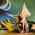 Valkűr, Képzőművészet, Festmény, Akril, Festészet, Méret : 30 X 40 cm Anyag : Akril ,papír Szeretem a mítoszokat ,legendákat,mondákat ezért is készíte..., Meska