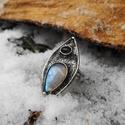 Holdkő és Ametiszt gyűrű, Ékszer, óra, Gyűrű, Tiffany technikával készült gyűrű.   Ásvány - Holdkő (Rainbow Moonstone), Ametiszt  Gyűrű ..., Meska