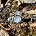 Holdkő gyűrű, Ékszer, óra, Gyűrű, Tiffany technikával készült gyűrű.   Ásvány - Holdkő (Rainbow Moonstone)  Gyűrű belső át..., Meska