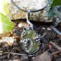 Riolit jáspis medál, Ékszer, Medál, Tiffany technikával készült medál.   Ásvány - Riolit Jáspis  Medál hossza - 5 cm  Az ónozáshoz ólomm..., Meska