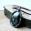 Riolit Opál medál, Ékszer, Medál, Tiffany technikával készült medál.   Ásvány - Riolit Opál  Medál hossza - 4,5 cm  Az ónozáshoz ólomm..., Meska