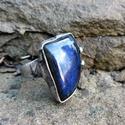 Labradorit gyűrű, Ékszer, Gyűrű, Tiffany technikával készült gyűrű.   Ásvány - Labradorit  Gyűrű belső átmérője kb. - 18..., Meska