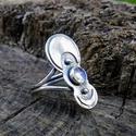Ezüst Holdkő gyűrű, Ékszer, Gyűrű, Holdkő (6mm) ezüstbe foglalva.   Ezüstékszereimet hagyományos ötvös technikával, keményforrasztással..., Meska
