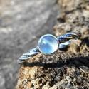 Ezüst Akvamarin gyűrű, Akvamarin ezüstbe foglalva.   Ezüstékszereimet ...