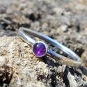 Ezüst Ametiszt gyűrű, Ametiszt (3mm) ezüstbe foglalva.   Ezüstékszere...