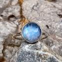 Ezüst Holdkő gyűrű, Holdkő (10mm) ezüstbe foglalva.   Ezüstékszere...
