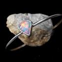 Ezüst Etiópiai drága opál karkötő, Etiópiai drága opál ezüstbe foglalva.   Ezüst...
