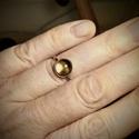 Ezüst Füstkvarc gyűrű, Füstkvarc (9mm) ezüstbe foglalva.   Ezüstéksze...