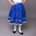 Gyerek néptáncszoknya, Ruha, divat, cipő, Gyerekruha, Gyerek (4-10 év), Varrás, Kékfestős szoknya gyerekeknek   Alapanyaga 100% pamut vászon  Mérete : 122-140 Hossza : 50 cm , Der..., Meska