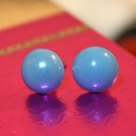 kék gyöngy fülbevaló, Ékszer, óra, Fülbevaló, Gyöngy fülbevaló, Meska