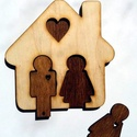 Házikós kulcstartó, Dekoráció, Otthon, lakberendezés, Házikós kulcstartó Falra akasztható 12,5x125 cm, Meska