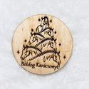 Karácsonyi hűtőmágnesek, Állatfelszerelések, Dekoráció, Hűtőmágnesek bármilyen felirattal, képpel 7cm lézervágott , gravírozott fa, Meska