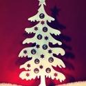 Karácsonyfa mecsetartó dekoráció, Dekoráció, Ünnepi dekoráció, Karácsonyi, adventi apróságok, Karácsonyi dekoráció, Mécsestartó 29cm es , 3mm vastag faból készült , Meska