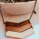 Bronz barna nyaklánc, Ékszer, Nyaklánc, 7x5cm  cm barna bronz nyaklánc nikkelmentes láncon , Meska