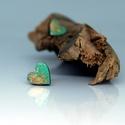 Türkiz arany szív fülbevaló, Ékszer, Fülbevaló, Ékszerkészítés, Türkiz arany  fa fülbevaló 1cm szív alakú , Meska