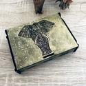 Elefántos fa dobozka, Dekoráció, Ékszer, Esküvő, Otthon, lakberendezés, Famegmunkálás, Elefántos fa dobozka , arany színű  13x3,5 cm, Meska