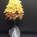 Gyöngyfa sárgában, Dekoráció, Otthon, lakberendezés, Dísz, Kővel együtt 14 cm magas. :-), Meska