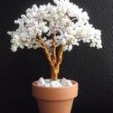 Gyöngyfa fehérben II, Dekoráció, Otthon, lakberendezés, Dísz, Ezúttal cserépben, mellyel együtt 12 cm magas. :-) Kb. 1500 db 2 milliméteres gyöngyből fűzve......, Meska